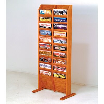 Wooden Mallet 20 Pocket Free Standing Magazine Rack