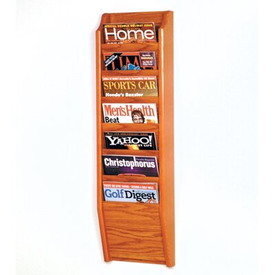 Wooden Mallet Seven Pocket Wall Mount Magazine Rack