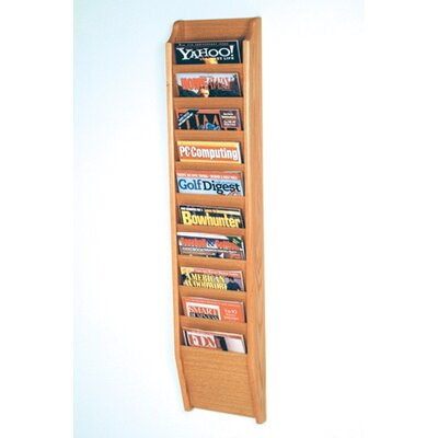 Wooden Mallet 10 Pocket Wall Mount Magazine Rack