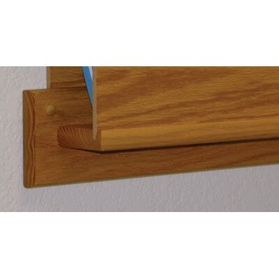 Wooden Mallet Open End Single Chart Holder - HIPPAA Compliant
