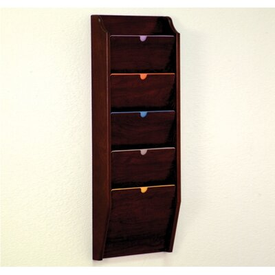 Wooden Mallet Five Pocket HIPPAA Compliant Chart Holder