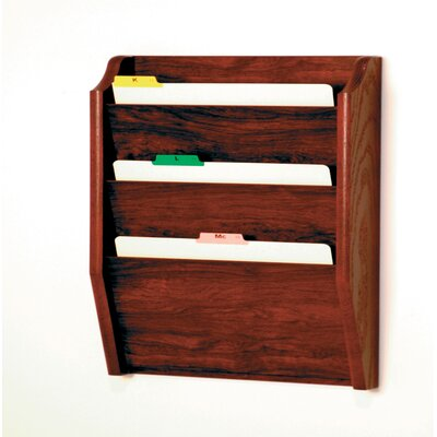 Wooden Mallet Three Pocket Legal Size File Holder