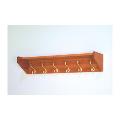 Wooden Mallet Hat and Coat Rack with 6 Hooks