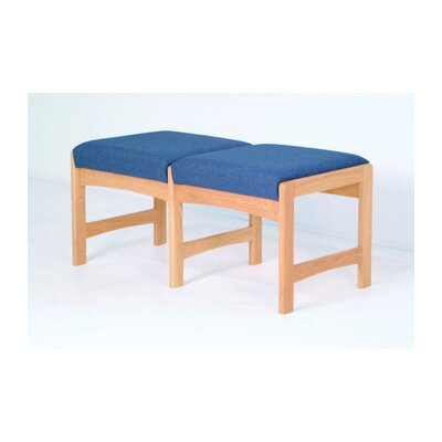 Wooden Mallet Dakota Wave Two Seat Bench with Designer Fabric