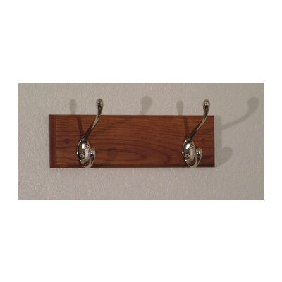 Wooden Mallet Coat Rack with 2 Hooks