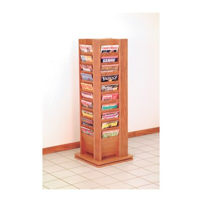 Wooden Mallet Forty Magazine Rotary Floor Display
