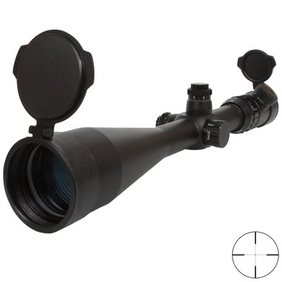 Triple Duty Rifle Scope 10-40x56, IR R&G with Rings