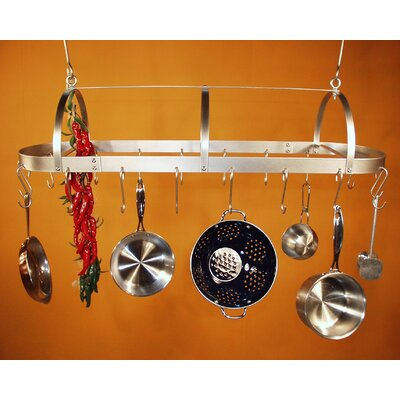 Hooded Oval Hanging Pot Rack
