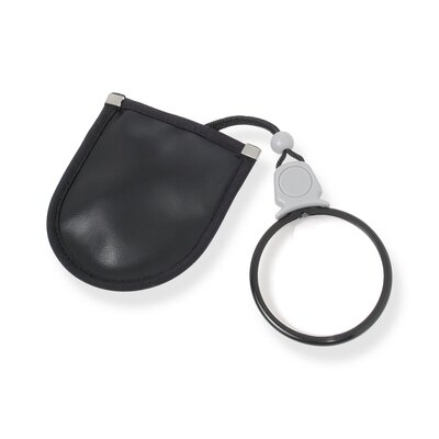 Carson MagniLook 2.5x Pendant Magnifier with 6x Spot Lens and Neck Cord