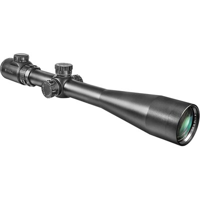 "Barska 6-24x44 IR, Riflescope, Black Matte, 30mm, with 5"" Shade and 5/8"" Rings, IR Mil-Dot"