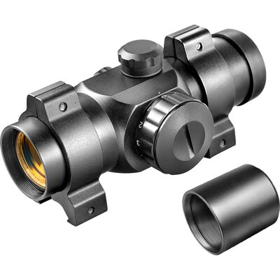 "Barska 25mm Red Dot Riflescope, (30mm Tube) with 5/8"" Dovetail .22 Rings and Extension Tube"