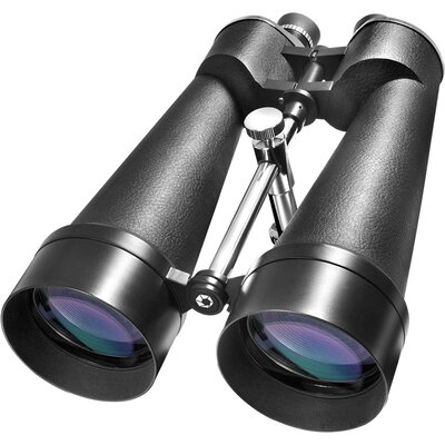 Barska 25x100 WP Cosmos Binoculars, Porro, Bak-4, MC, Green Lens, with Premium Hard Case