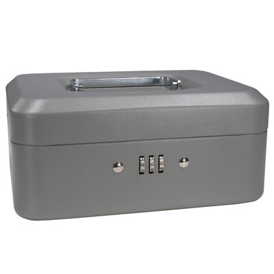 Small Gray Combination Lock Box