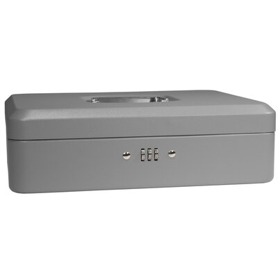 Barska Large Gray Cash Box with Combination Lock