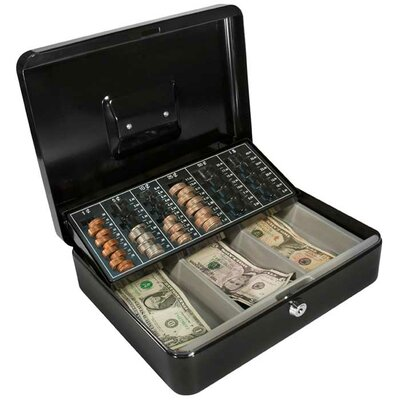 Barska Cash Box and Coin Tray with Key Lock
