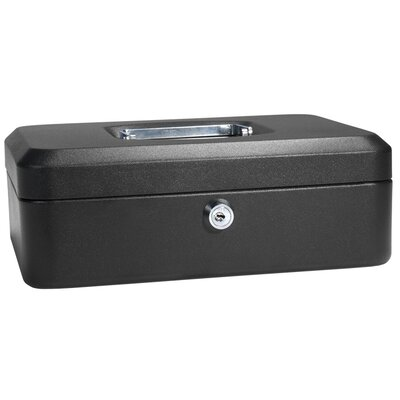 Medium Black Cash Box with Key Lock