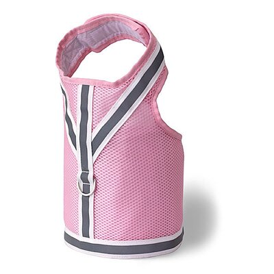 Doggles Dog Wear Reflective Mesh Vest Harness in Pink and Gray