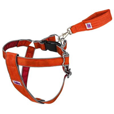 Doggles Mutt Gear™ Dog Step In Harness in Orange and Red
