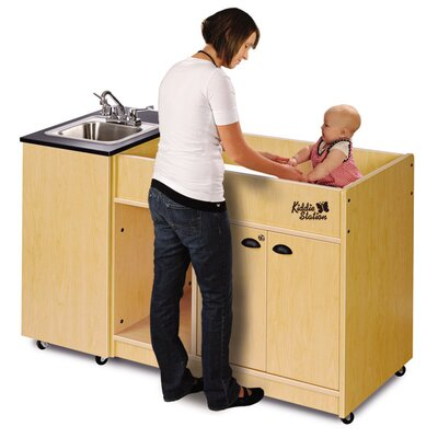 "Ozark River Portable Sinks 58"" x 26"" Kiddie Station 1 Portable Hand Washing Station with Storage Cabinet"