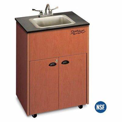 "Ozark River Portable Sinks Premier 26"" x 18"" Single Bowl Portable Sink with Storage Cabinet"