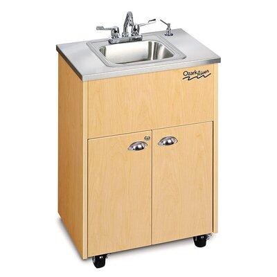 Ozark River Portable Sinks Silver Premier 1 Stainless Steel Portable Hand-Washing Station NSF Certified