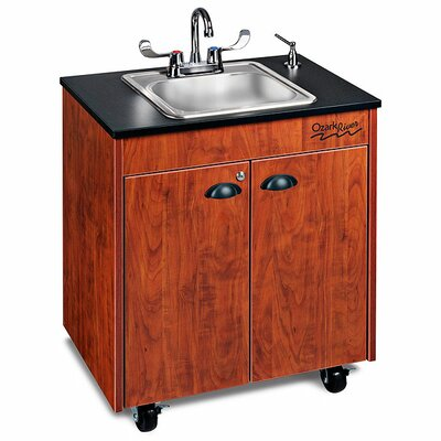 "Ozark River Portable Sinks Lil' 26"" x 18"" Premier 1 Portable Hand Washing Station with Storage Cabinet"
