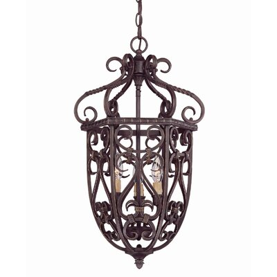 Bellingham 3 Light Cage Foyer Pendant