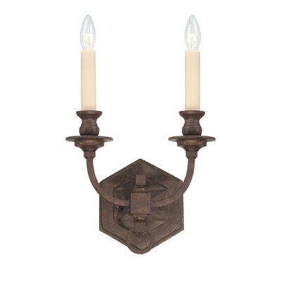 Savoy House Bastille Two Light Wall Sconce in Heritage Bronze