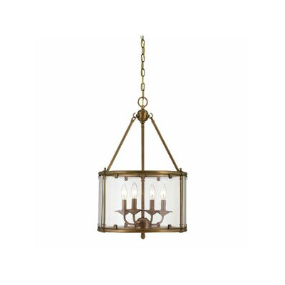 Savoy House Foxcroft 4 Light Foyer Drum Pendant