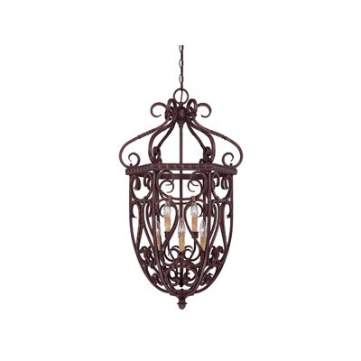 Savoy House Bellingham 6 Light Cage Foyer Pendant