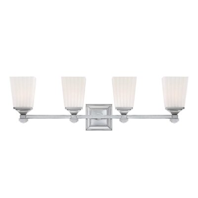Wildon Home ® Opal 4 Light Bath Vanity Light
