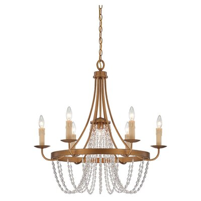<strong>Savoy House</strong> Abilene 6 Light Chandelier