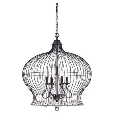 <strong>Savoy House</strong> Birdcage 6 Light Foyer Pendant