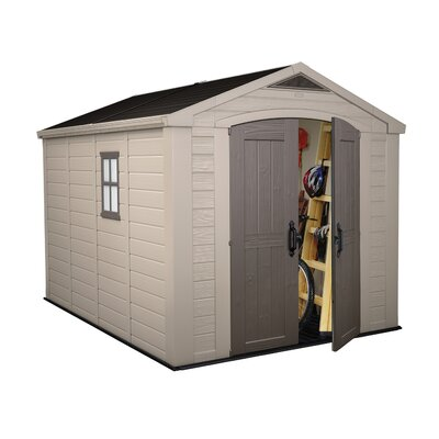 "Keter Factor 10'10.5"" W x 8'5"" D Resin Storage Shed"
