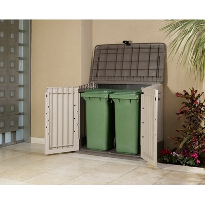 """Keter Woodland 4'4"""" W x 2'5"""" D Resin Tool Shed"""