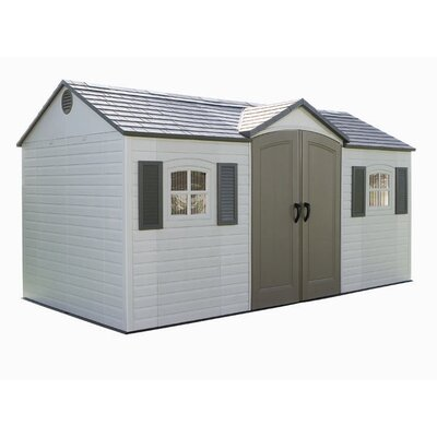 "Lifetime Side Entry 14'8"" W x 7'8"" D Plastic Storage Shed"