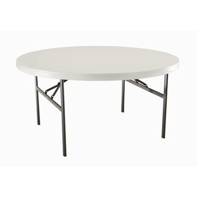 "Lifetime 60"" Round Commercial Grade Table in White"
