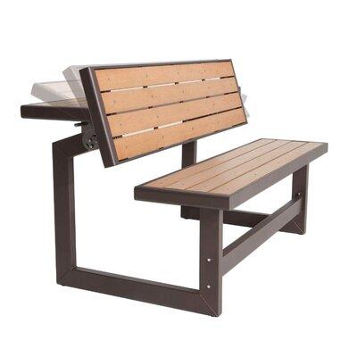 Lifetime Convertible Wood and Metal Park Bench & Reviews  Wayfair