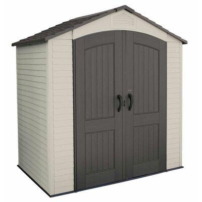 "Lifetime 7' W x 4'5"" D Plastic Storage Shed"