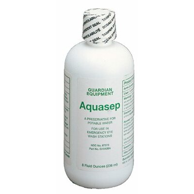 Guardian Equipment AquaGuard Gravity-Flow Eye Wash Refills - 8-oz. bacteriostatic additive