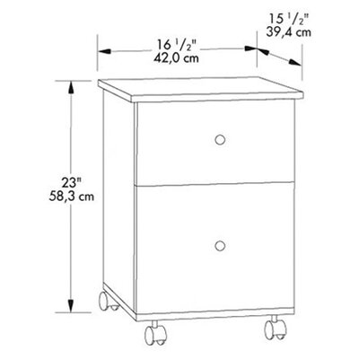 Sauder 2-Drawer Mobile File Cart