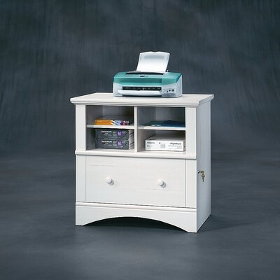 Sauder Harbor View Lateral File Cabinet in Distressed Antiqued White