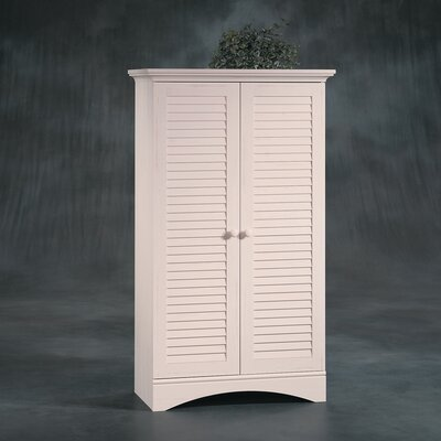 Sauder Harbor View Storage Cabinet in Distressed Antiqued White
