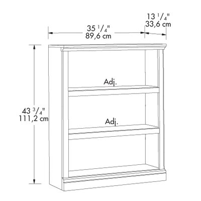 Storage Three Shelf Bookcase