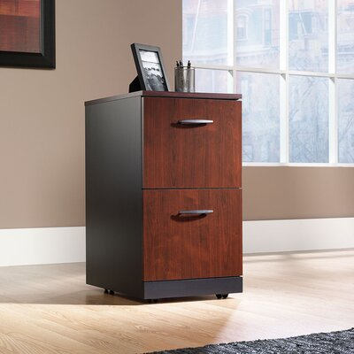 Sauder Via Two Drawer Pedestal in Classic Cherry