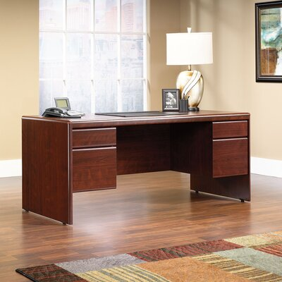 Sauder Cornerstone Executive Desk with Hutch