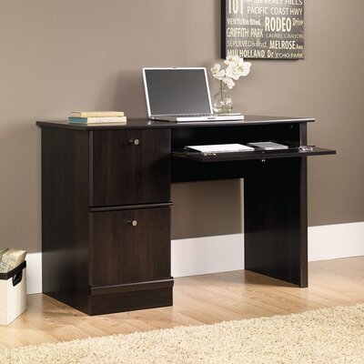 "Sauder 46.5"" W Computer Desk with Keyboard / Mouse Tray"
