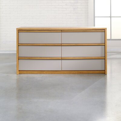 Soft Modern 6 Drawer Dresser