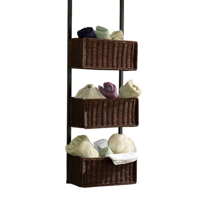 Wildon Home ® Lynbar Over the Door 3-Tier Basket Storage