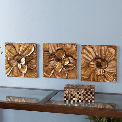 Wildon Home ® Burton Magnolia Panel Wall Art (Set of 3)